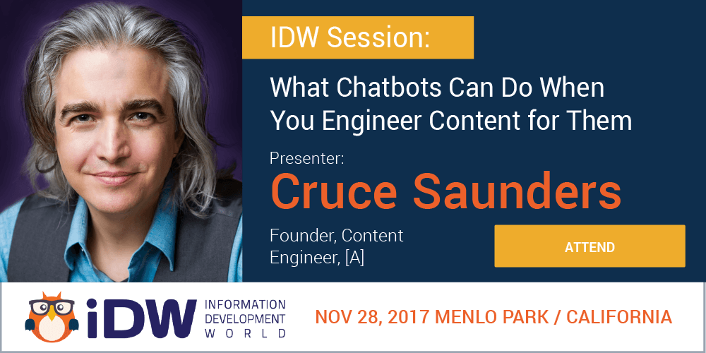 [A]'s Founder Cruce Saunders Talks Chatbots at IDW