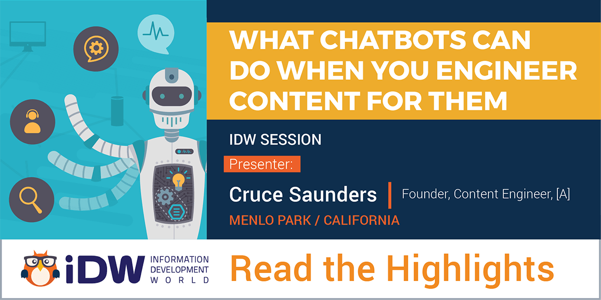 Highlights from [A]'s Founder Cruce Saunders Talk on Chatbots at IDW 2017