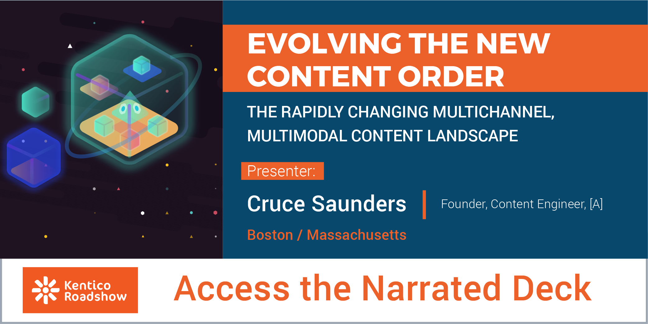 Kentico Roadshow Boston: Presentation by [A]'s Founder Cruce Saunders