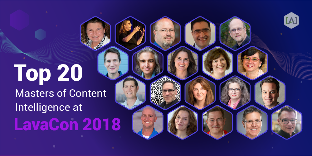 Top 20 Masters of Content Intelligence at LavaCon 2018