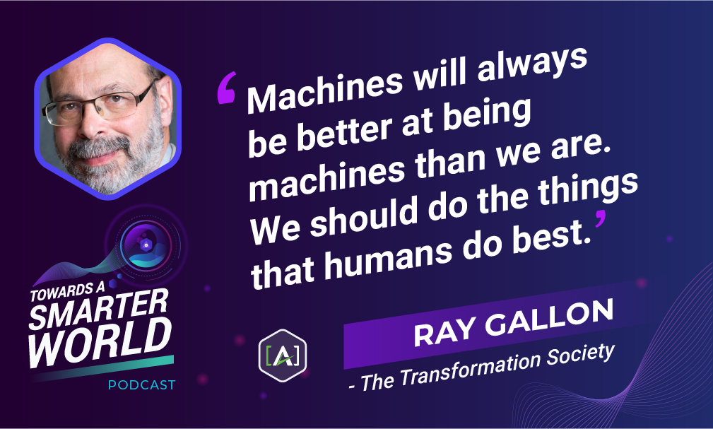 Machines will always be better at being machines than we are. We should do the things that humans do best.