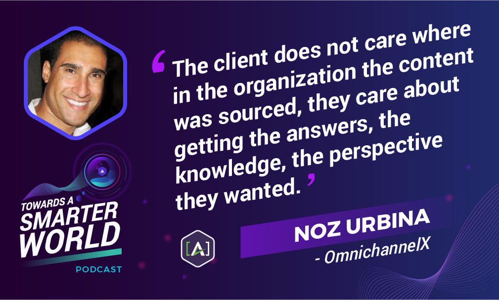 The client does not care where in the organization the content was sourced, they care about getting the answers, the knowledge, the perspective they wanted.